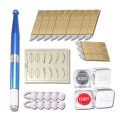 High Quality Permanent Eyebrow Makeup Tattoo Kits Micro Blading Tattoo Pen Needles Ring Ink Cups Skin Set