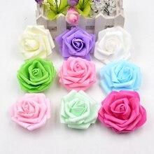 10pcs 7cm Artificial Flower Large 5 Layers High-Quality Foam Rose Handmake For Wedding Decoration DIY Scrapbooking Pompom Flower