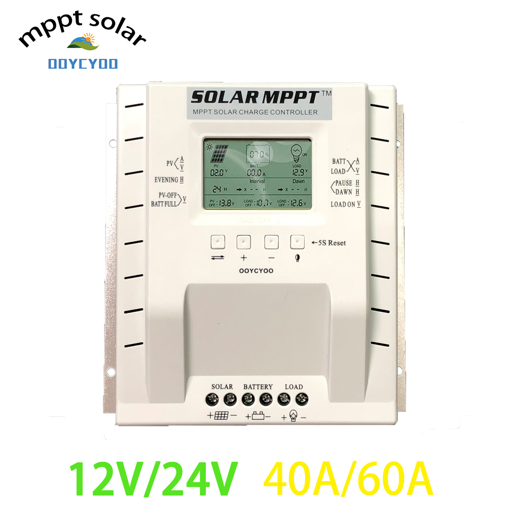 OOYCYOO MPPT Charge Controller 60amp 12V 24V Auto Max 100V 780W 1560W Input Solar Regulator with
