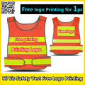 High visibility reflective safety clothing safety orange vest reflective vest work vest traffic vest free logo printing
