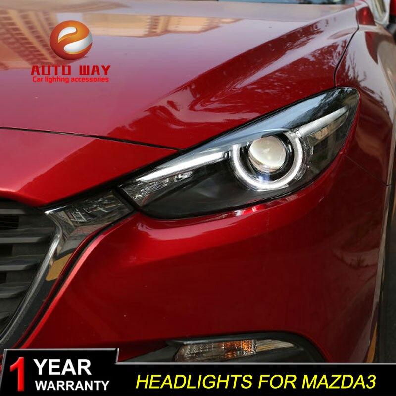 Գլխի լամպի պահոց Mazda 3 M3 Axela Mazda3 2017 2018 - Ավտոմեքենայի լույսեր - Լուսանկար 2