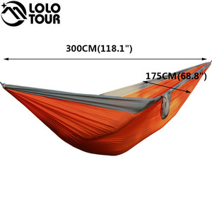 Image 2 - Portable 2 Person Parachute Hammock Tent Double Garden Hamaca Rede De Dormir Camping Hamac  300*175cm European Standard Hamak