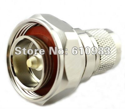 Free shipping (5 pieces/lot) 7/16 Din male L29 Plug adaptor to N male plug connector straight adapter High quality 5 pieces lot 80nf03 80n03 to 263