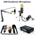 Professional MK-F100TL USB Condenser Sound Radio Studio Recording Audio Wired Microphone with Stand for KTV Karaoke Computer PC