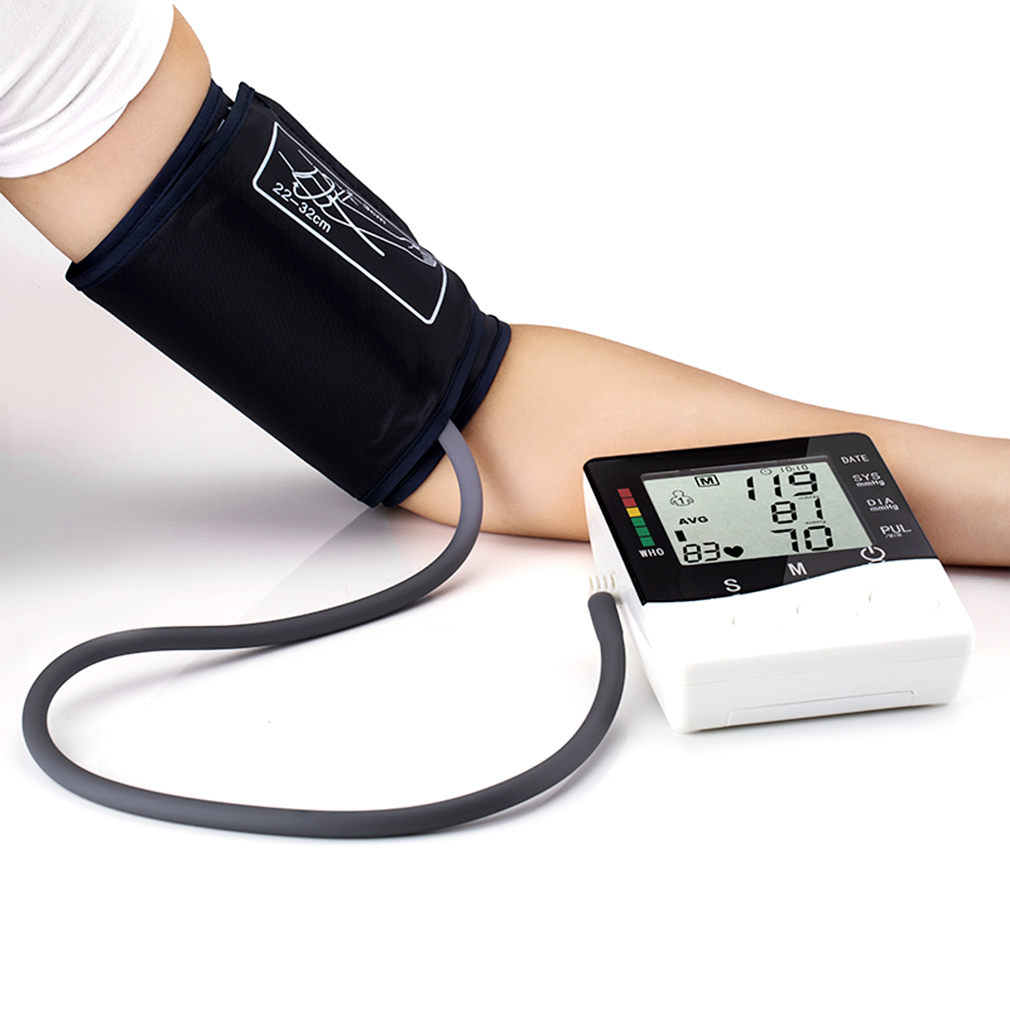Health Care Automatic Wrist Digital Blood Pressure Monitor Tonometer Meter for Measuring And Pulse Rate Black&White health care wrist portable digital automatic blood pressure monitor