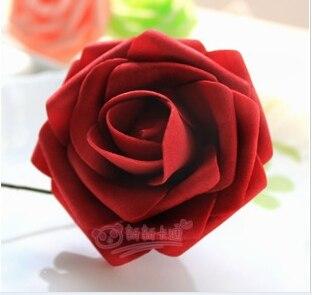 500 шт. X(6 см) один Пена розовыми цветами стволовых в 12 различных Цвета для выбора свадебные цветы.* по EMS - Цвет: Burgundy