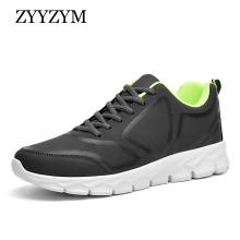 купить ZYYZYM Men Sneakers Spring/Autumn Lace-Up Style Men Casual Shoes Breathable Light Fashion Sport Men Shoes Plus Size EUR 38-48 дешево