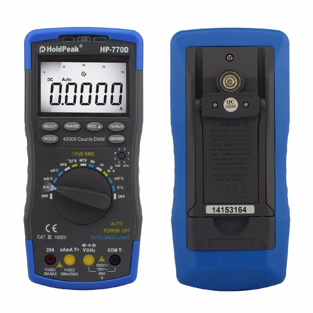 Probador multímetro digital HoldPeak HP-770D Rango automático - Instrumentos de medición - foto 5