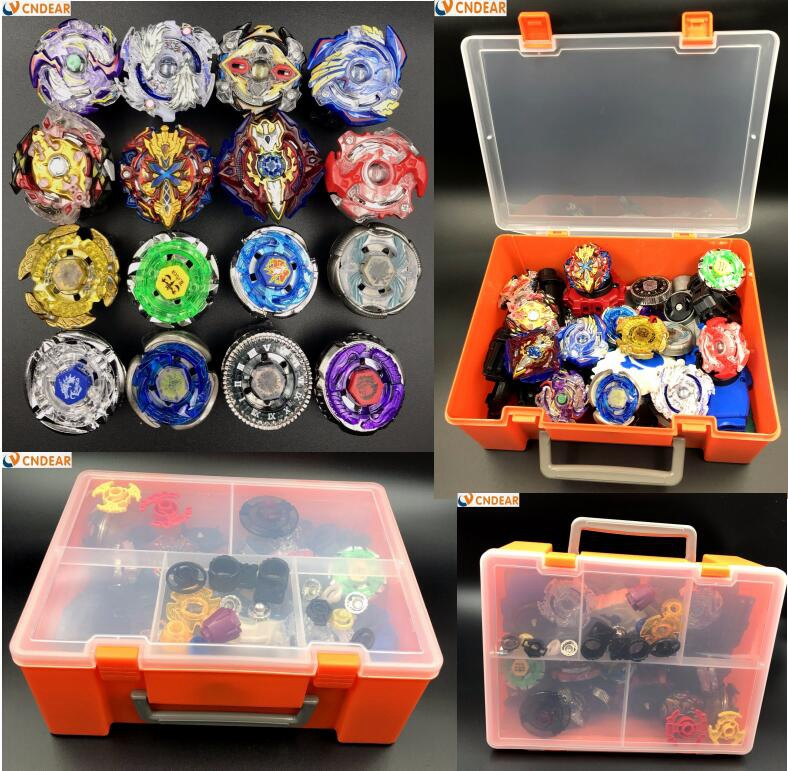 beyblade burst with launcher handle and storage box set B48 B66 B41 B59 B36 B37 B35 B34 B92 B86 as children toy CNDEAR beyblade burst with launcher handle