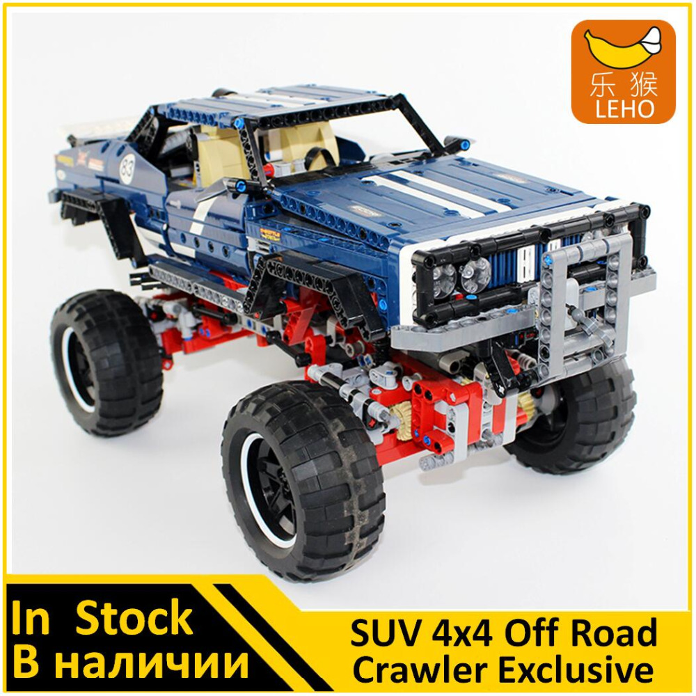 Building Blocks Model 20011 Compatible Technical SUV 4x4 Off Road Crawler Exclusive 41999 Model Educational For Children lepin 20011 1605 pcs super classic limited edition of off road vehicles model building blocks bricks compatible toy 41999