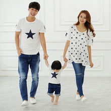 2016 matching family clothes Children short sleeved T shirt summer new family and couples tide t