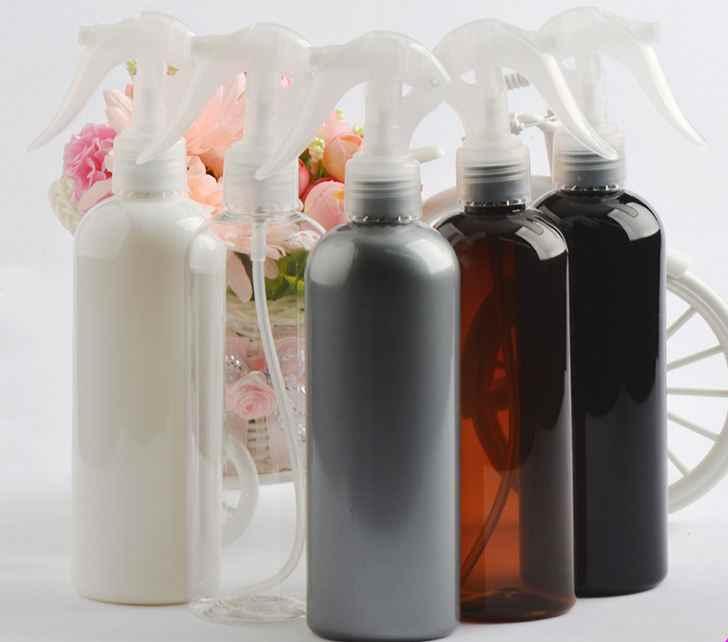 cff815d4ef29 300ml Round shoulder Refillable Bottles Lotion Container Large Pump/ Empty  Spray Bottle Travel Bottle PET plastic High Quality
