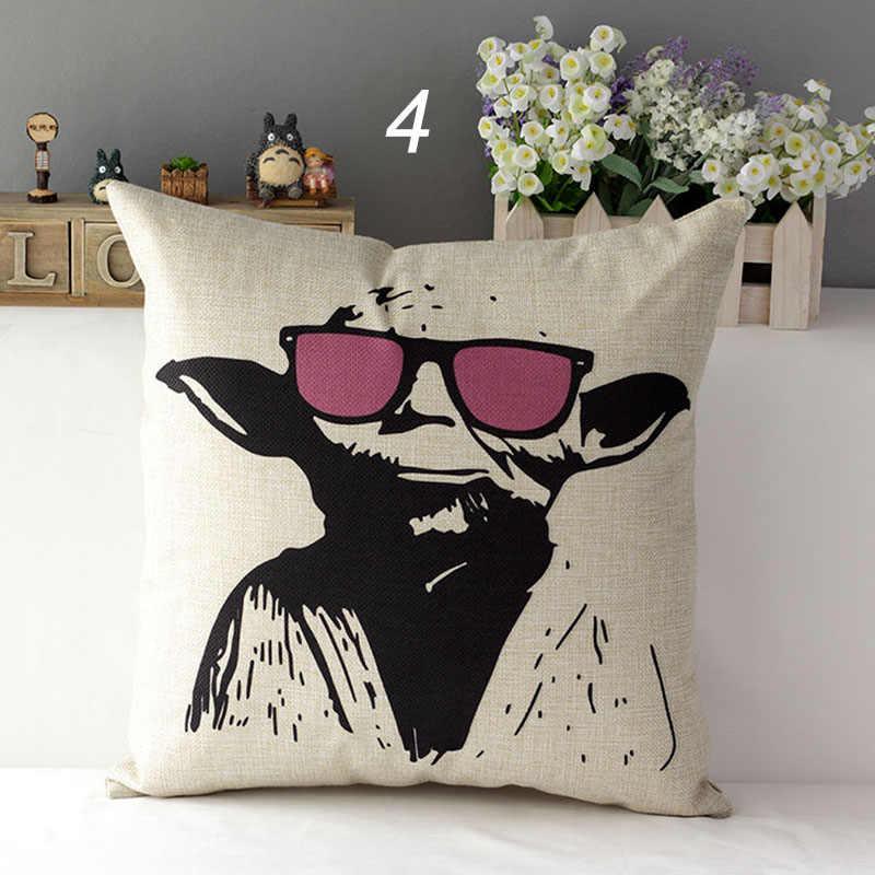 Plakat gwiezdne wojny 5 modeli Master Yoda cotton linen juta poduszki dekoracyjne poduszki case na kanapie sofa krzesło