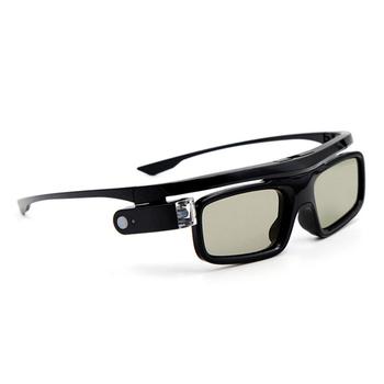 Aktywna migawka składane USB akumulator uniwersalne okulary 3D obiektywy LCD wizualne z baterią praktyczne dla projektora DLP Link tanie i dobre opinie Woopower Brak Other Nie-Wciągające shutter