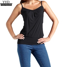 54d73afb20166 Plus Size 5XL Summer 2018 Tank Top Womens Cotton Blend Solid Sleeveless  Tops Spaghetti Strap Ladies