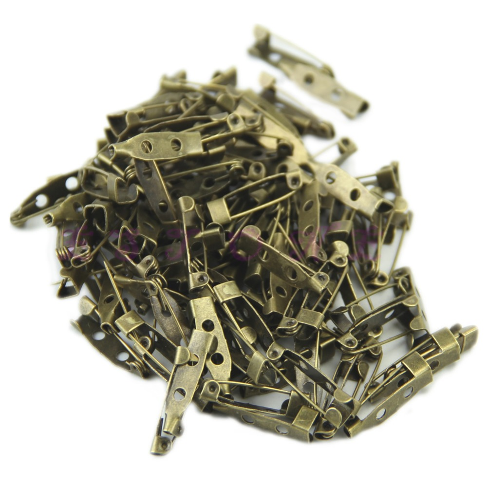 100pcs/lot 20mm DIY Safety Pins Brooch Jewelry Accessory 3Colors