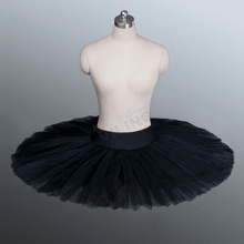 Ballet tutu rehearsal tutu skirt Black ballet half tutu Professional rehearsal ballet platter plate practicing Pancake tutus