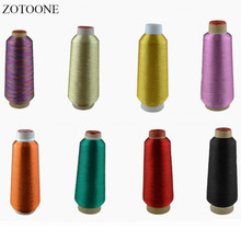 ZOTOONE 1Spool 3500M Metallic Embroidery Thread Jeans 20 Colors Polyester Cross Stitch Threads for Sewing Threads for Overlock F death threads