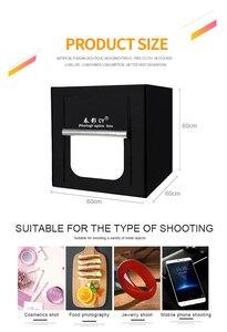 Image 3 - CY 60*60 センチ Led フォトスタジオライトテントソフトボックス撮影ライトテントソフトボックス + ポータブルバッグ + AC アダプタジュエリーおもちゃ Shoting