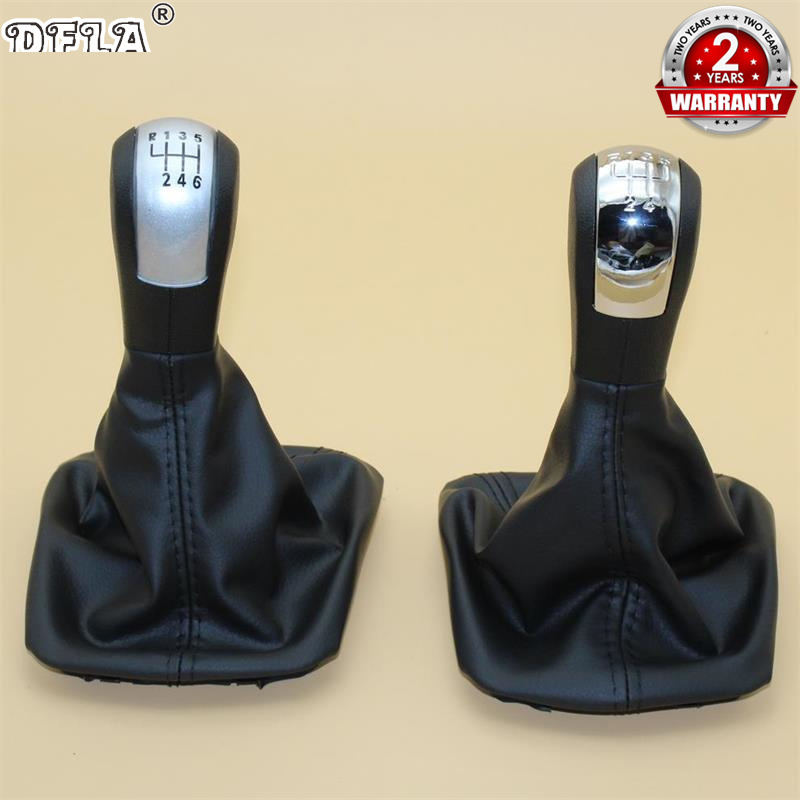 For Skoda Octavia 2 A5 A6 2004 2005 2006 2007 2008 2009 2010 2011 2012 2013 5 / 6 Speed Gear Lever Stick Shift Knob Leather Boot подлокотники в авто 2015 skoda octavia a5 2008 2010