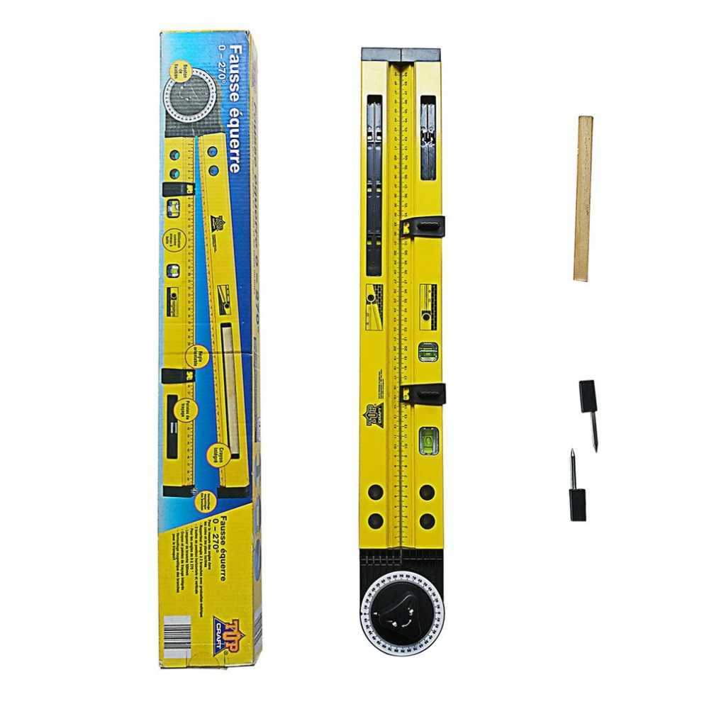 multi-function scribing gauge woodworking scribe compass slope measuring  angle instrument horizontal positioning tool