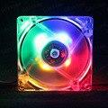 5 unids Lot Gdstime 4Pin 12 Voltios LED Colorida Caja de la Computadora Silenciosa Ventilador de Refrigeración 80 MM 8 CM 80X25 MM