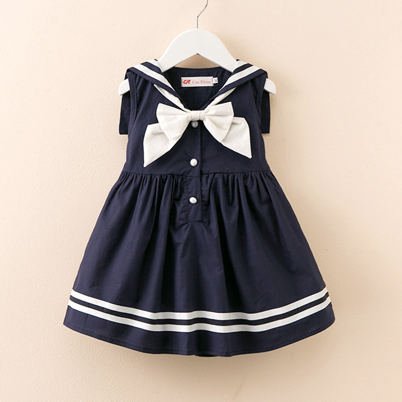 d950017b9b954 Sailor Collar Dresses 2019 Summer Preppy Style Infant Girl Dress ...