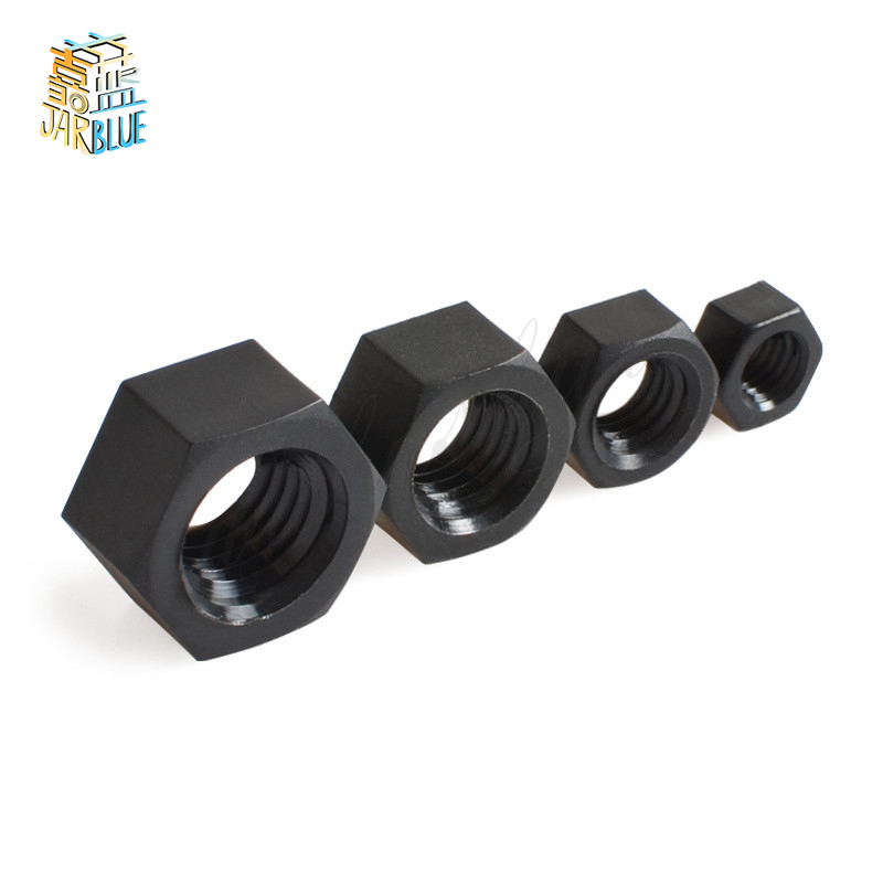 50Pcs DIN934 M2 M2.5 M3 M4 M5 M6 M8 Black Nylon Hex Nut Hexagon Plastic Nuts NL14