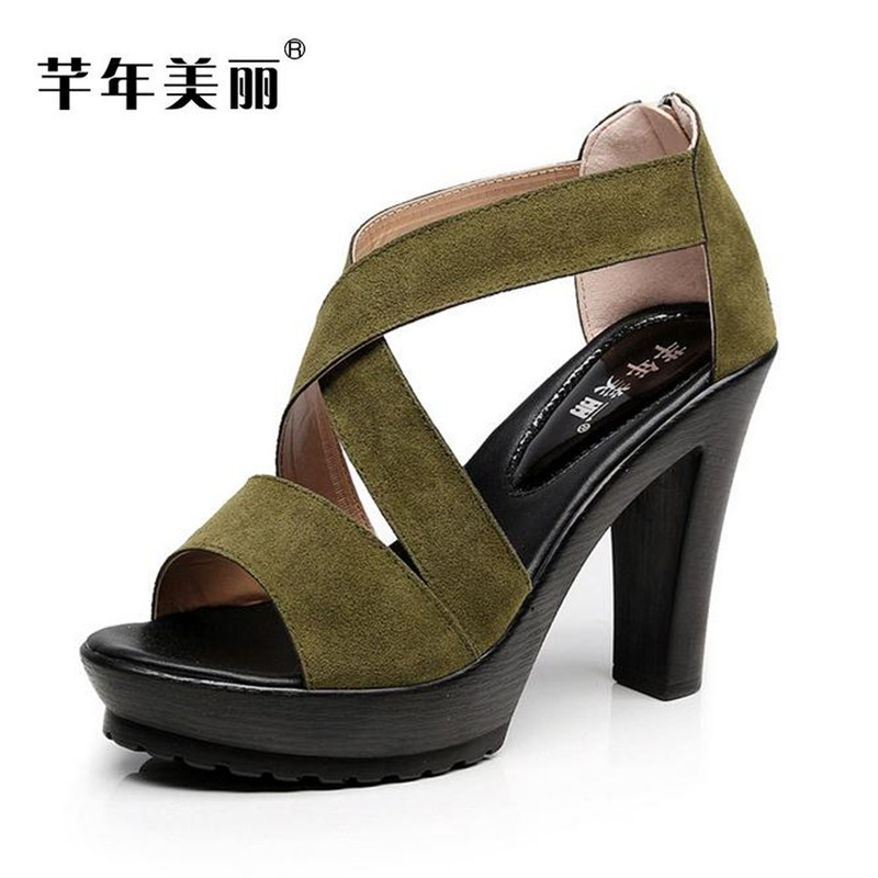 Summer new models of fish mouth Women sandals large size 40-43 yards shoes waterproof platform high heels female sandals obuv