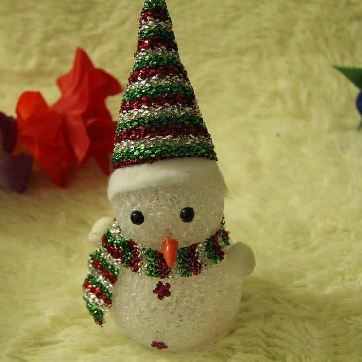 Санта Клаус Рождественская игрушка с подсветкой светящиеся Снеговик Олень рождественские украшения для дома НОВОГОДНИЕ ПОДАРКИ свет