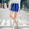 [XITAO] New autumn above-knee length pencil slimming form fashion style striped female skirt MFB-019