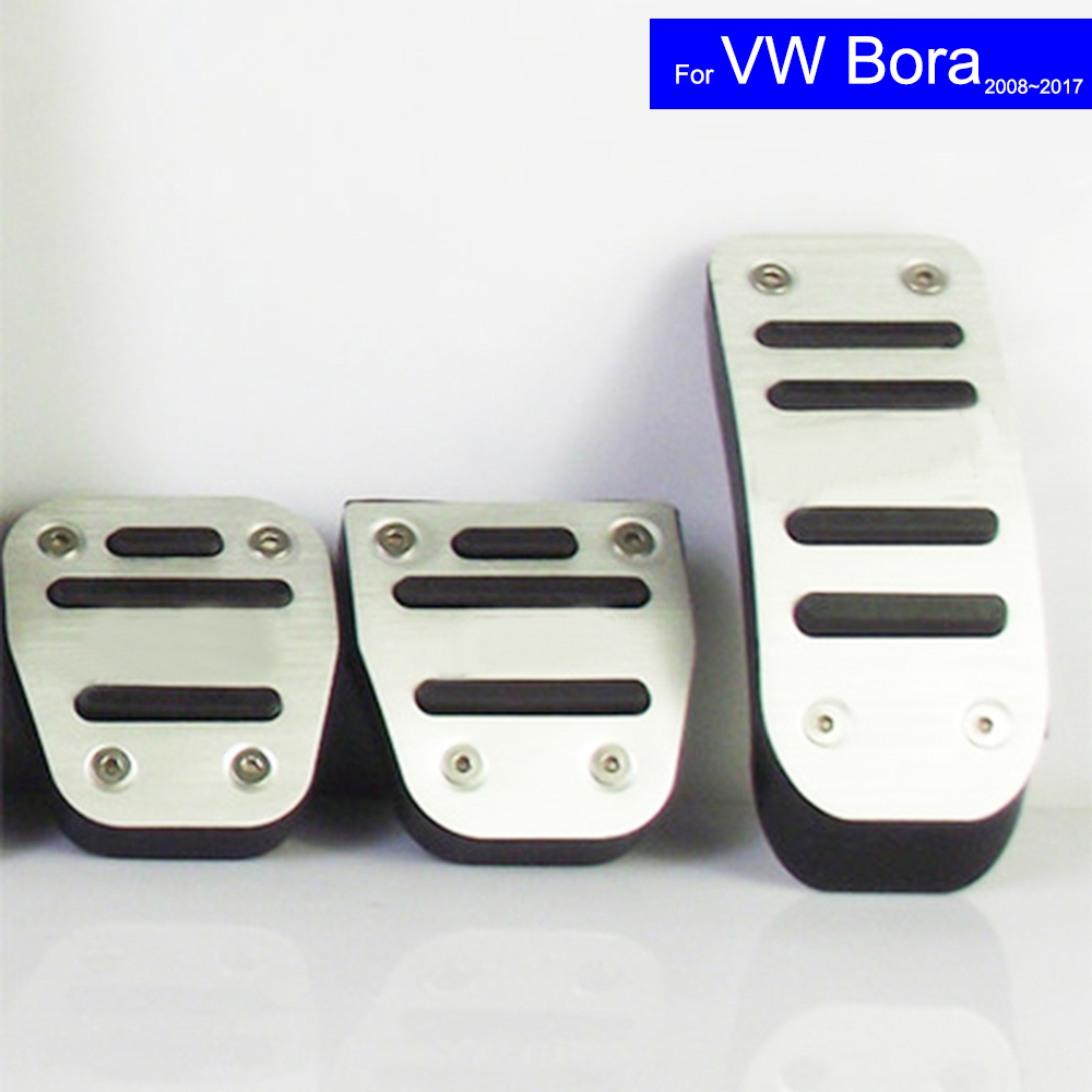 Car Petrol Clutch Fuel Brake Pad Foot Pedals Rest Plate for VW Volkswagen Bora 2008~2012 2013 2014 2015 2016 2017 Pedals Auto