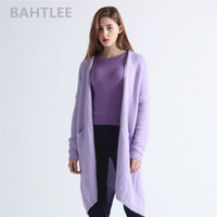 BAHTLEE 2018 autumn winter women's angora rabbit cardigans TOP sweater soft casual and looser fashion brand three colour