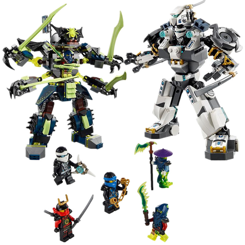 Bela 10399 Phantom font b LEPIN b font Titan Mech Battle Model Building Kit Blocks Set