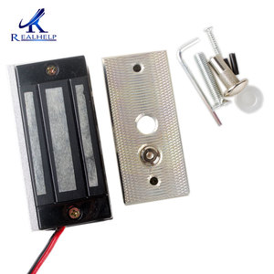 Image 3 - Hot sale 60KG 120Lbs Electronic access control system Mini Magnetic Lock electric lock glass door entrance guard free shipping