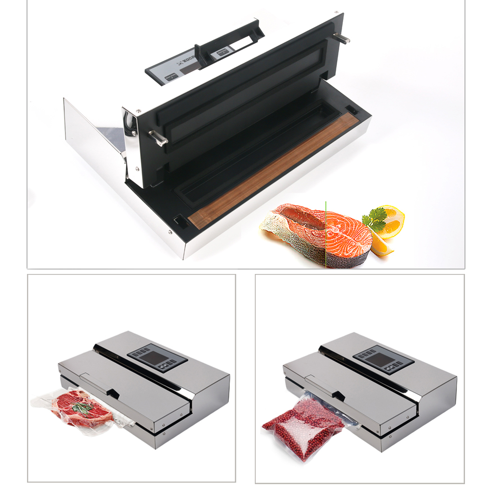 ITOP Electric Semi commercial Vacuum Sealer Packing Machine Food Sealer For Vacuum Packed Fish Sea Vacuum Sealer 110V 220V in Vacuum Food Sealers from Home Appliances