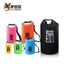 Waterproof Dry bags 30L Outdoor Sport Backpack Shoulder Bags Swimming Bags for Canoe Kayak Rafting Camping Travel Kit Equipment