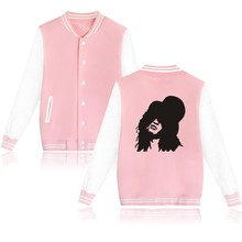 Guns N Rose 2016 Autumn New Print Women Jacket and Rock Band Winter Coat Women in Plus Size Pink Jacket and Coats