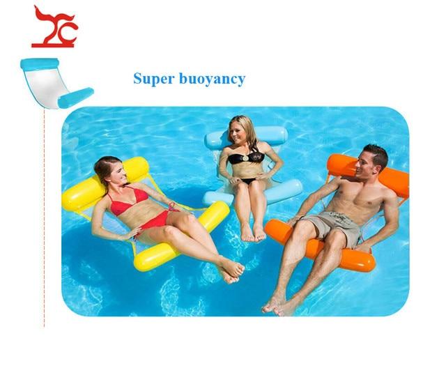 Free shipment Hot outdoor water hammock sofa Ultra light portable folding water recliner adult beach toys