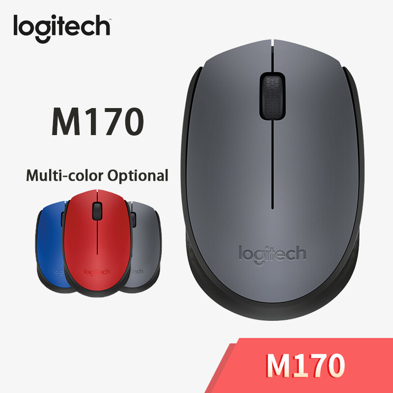 Logitech M170 2.4GHz Wireless Mouse With 1000 DPI Optical Mouse For PC/Laptop Game Mouse Office & Home Using By Free Shipping To