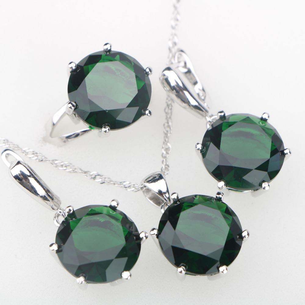 Exquisite gold color 13x18mm oval faceted hole green crystal pendant necklace