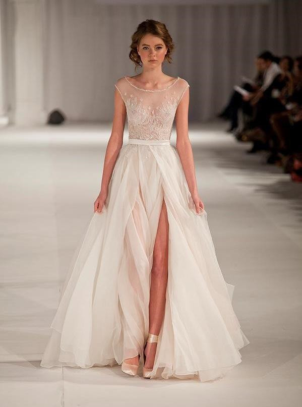 Paolo Sebastian Sheer Beach Wedding Dresses
