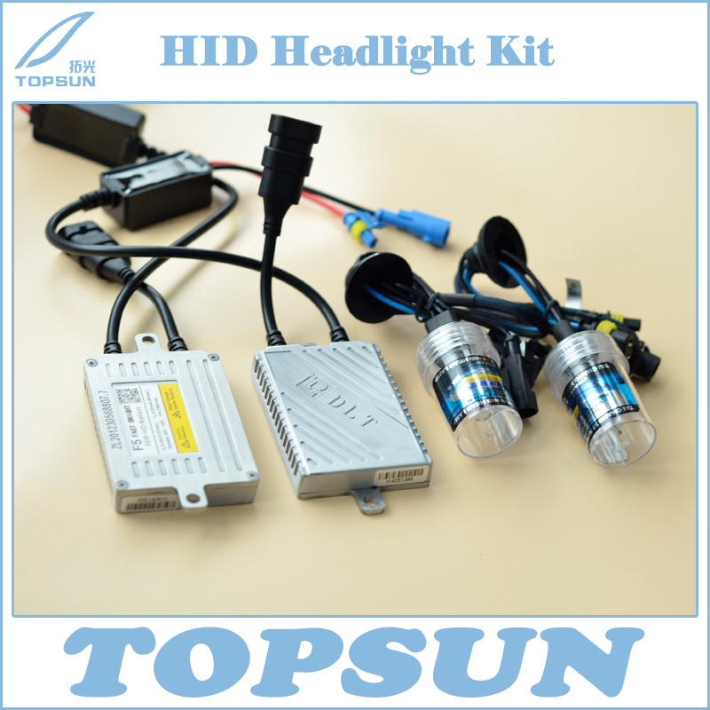 Xenon HID Kit DLT Ballast F5T Fast Bright 12V 55W and CN Top Brand TC Headlamp Bulb H1 H3 H7 H11 9005 9006 4300K 6000K 8000K