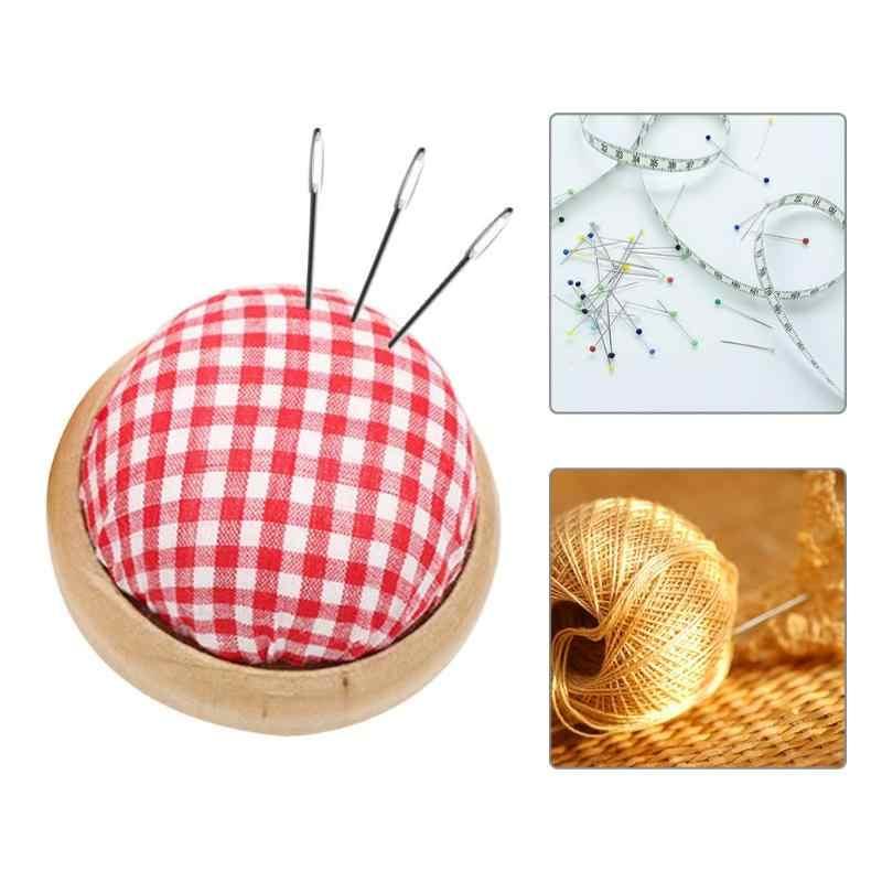 Pincushion Bola Berbentuk DIY Kerajinan Jarum Pin Bantal Dudukan Jahit Kit Jarum Pad DIY Cross Stitch Alat Aksesoris