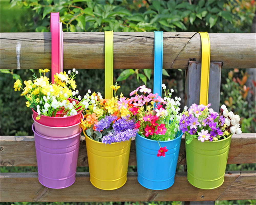 Decorazione Vasi Da Giardino : Vaso di fiori appeso balcone giardino impianto fioriera decorazione