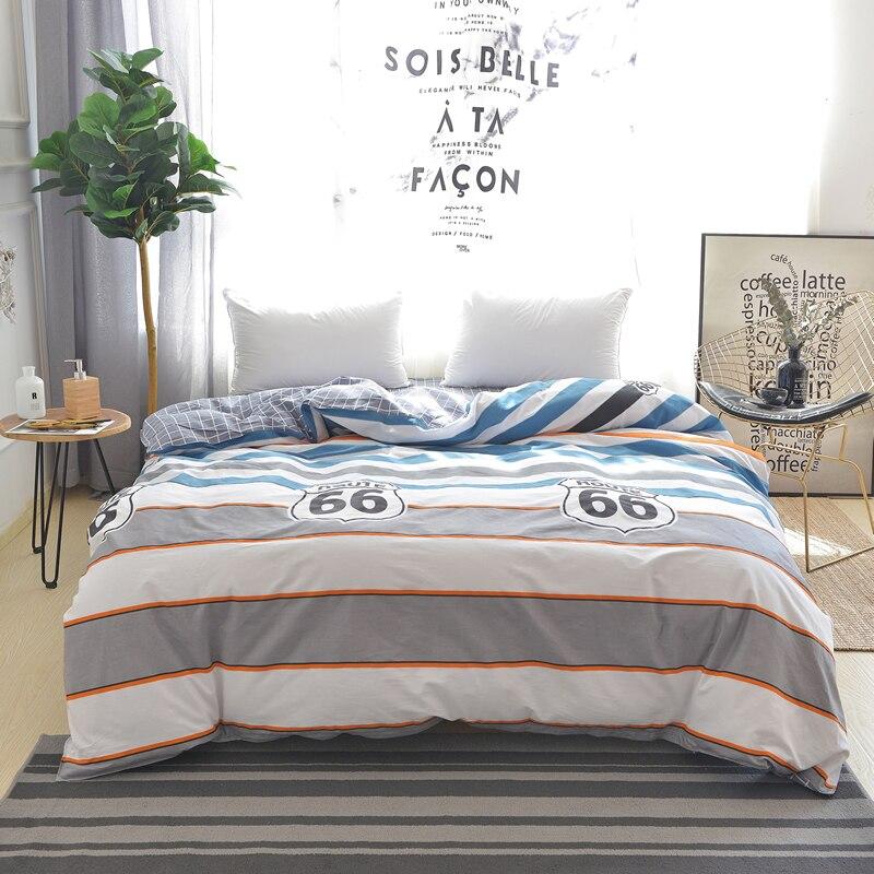Bande dessinée Couleur Rayé Couture Motif 100% Coton 1 PC de L'environnement Impression Et Teinture Doux Housse de Couette Maison-Textile 4 taille
