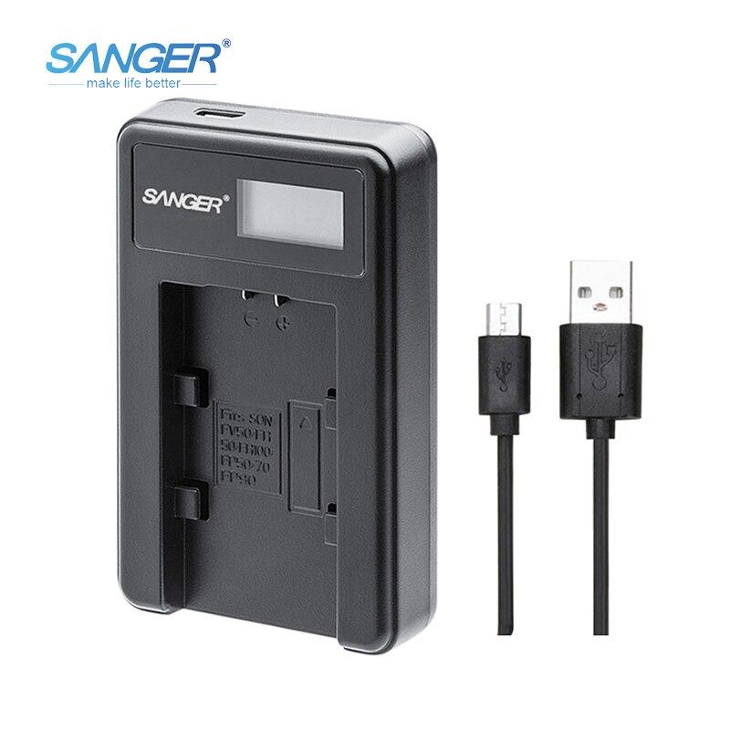 SANGER FV FP FH Series USB Camera Battery Charger for Sony NP-FV50 FV70 FV100 FP50 FP70 FP90 NP-FH70 NP-FH50 NP-FH100 NP-FV120 dste fh100 fh50 fh70 fv100 fv70 fv50 fp50 fp90 fp100 battery charger for sony video camera more