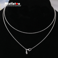 Authentic 925 Sterling Silver 50cm Or 70cm Necklace Chain Fit European Brand Necklace Jewelry