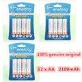 12 pcs/3 cartão enelong durável aa baixa auto-descarga da bateria 1.2 v 2100 mah ni-mh baterias recarregáveis baterias de 1.2 volts 2a bateria