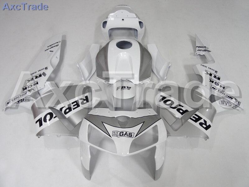 Motorcycle Fairings Kits For Honda CBR600RR CBR600 CBR 600 RR 2005 2006 F5 ABS Plastic Injection Fairing Kit Bodywork White A607 custom injection factory motorcycle fairings parts for 2005 2006 honda f5 cbr 600 rr cbr600rr 05 06 white repsol fairing bodyits